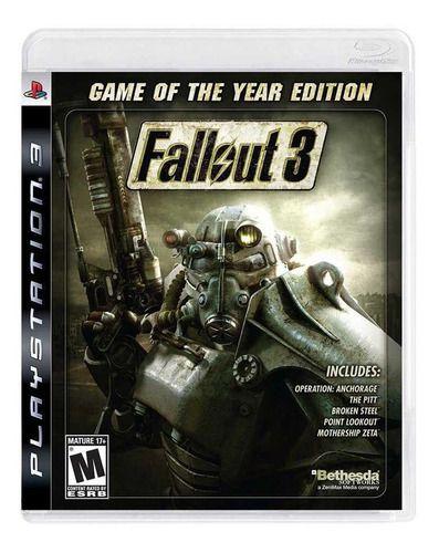 Usado Jogo PS3 Fallout 3 Game of the Year Edition - Bethesda