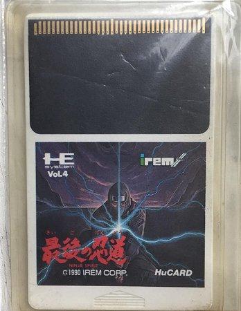 Jogo PC Engine Saigo Ninja HuCard Japonês - Irem