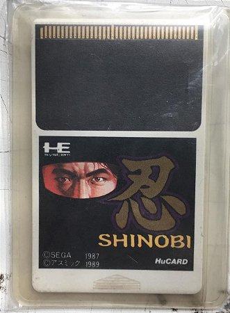 Jogo PC Engine Shinobi HuCard Japonês - Sega