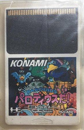 Jogo PC Engine Parodius HuCard Japonês - Konami