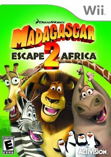 Jogo Nintendo Wii Madagascar 2 Escape Africa - Actvision
