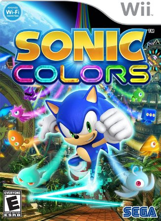 Jogo Nintendo Wii Sonic Colors - Sega