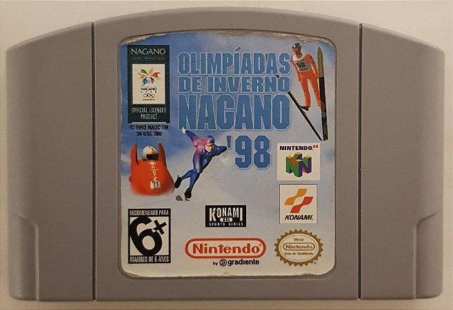 Jogo Nintendo 64 Nagano Winter Olympics 98 Olimpiadas de Inverno 98 - Konami