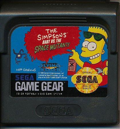 Usado Jogo Game Gear The Simpsons Bart vs The Space Mutants - Sega