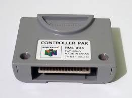 Usado Acessório Nintendo 64 Controller Pak Memory Card - Nintendo