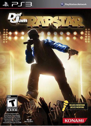 Usado Jogo PS3 Def Jam Rapstar + Microfone- Konami