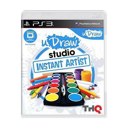 Usado Jogo PS3 Udraw Studio Instant Artist + Mesa  - THQ