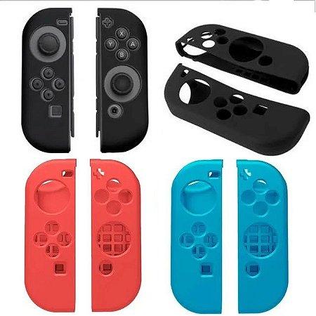 Case Capa de Silicone para Joy Con com Comfort Grip Nintendo Switch Azul