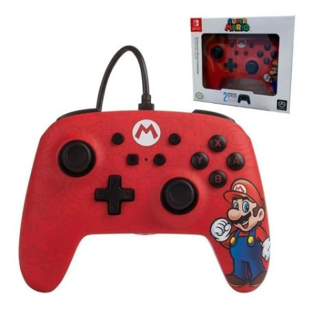 Controle com Fio para Nintendo Switch Edição Especial Mario - Power A
