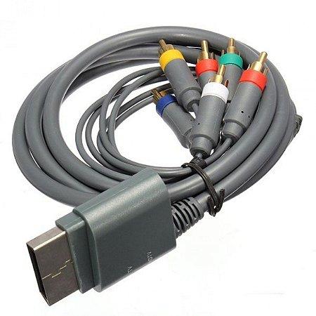 Cabo de Video Componente audio e Video Para Xbox 360