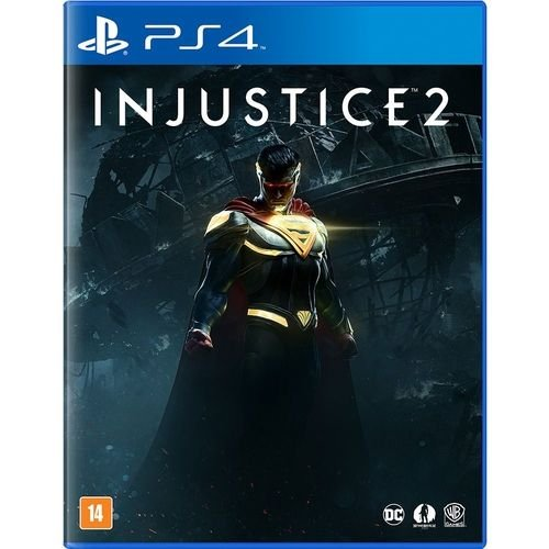 Usado Jogo PS4 Injustice 2 Edição Limitada + Blu-Ray Liga da Justiça Sombria - DC