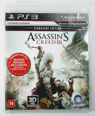 Jogo PS3 Assassins Creed III - Signature Edition - Ubisoft