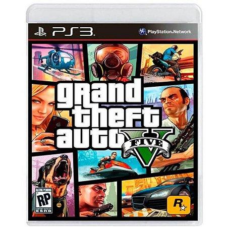 Jogo PS3 Grand Theft Auto V GTA 5 Five - Rockstar