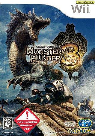 Jogo Nintendo Wii Monster Hunter 3 Tri Japones - Capcom