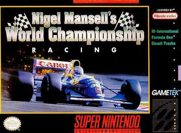 Usado Jogo Super Nintendo Nigel Mansell's World Championship Racing Na Caixa - Nintendo