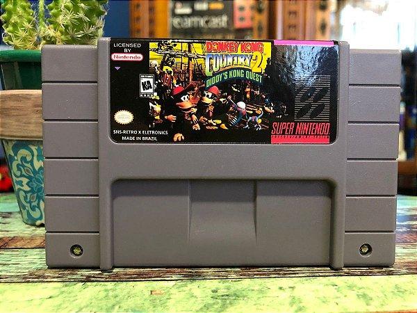 Usado Jogo Super Nintendo Donkey Kong Country 2 Diddy's Kong Quest - Nintendo