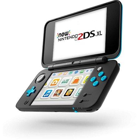 Usado Console Nintendo New 2DS XL Azul  + Carregador e Case - Nintendo
