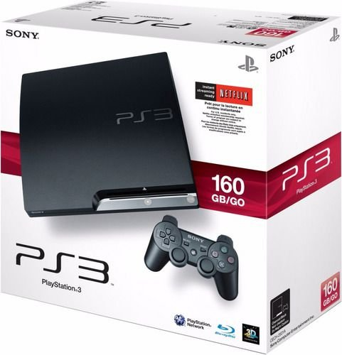 Usado Console Playstation 3 Slim PS3 160GB Preto + 1 Controle | Na Caixa - Sony