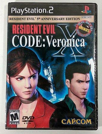 Usado Jogo PS2 Resident Evil Code Veronica X  - Capcom