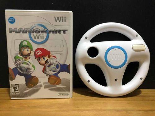 Jogo Nintendo Wii Mario Kart Wii + Volante Oficial Wii Wheel - Nintendo