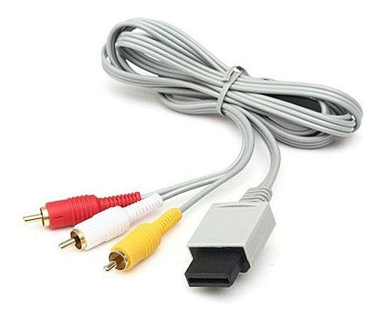 Cabo AV RCA Audio e Video para Nintendo Wii e Wii U - Nintendo