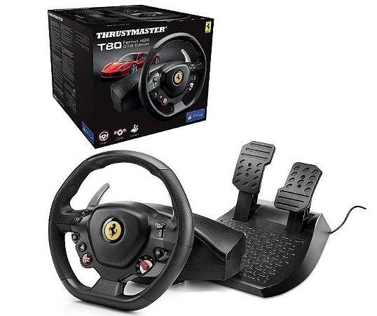 Usado Acessorio PlayStation Volante Thrustmaster T80 Ferrari 488 PS3 PS4   Na Caixa - Thrustmaster