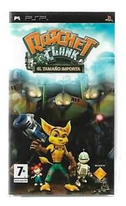 Jogo PSP Ratchet & Clank Size Matters | Capa em Espanhol - Sony