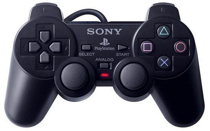 Usado Controle PS2 Original Playstation 2 Preto - Sony
