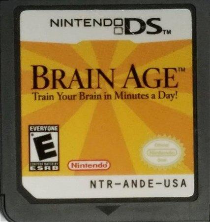 Usado Jogo Nintendo Ds Brain Age Train Your Brain In Minutes A Day - Nintendo