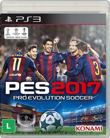 Usado Jogo PS3 Pro Evolution Soccer 2017 PES 2017 - Konami