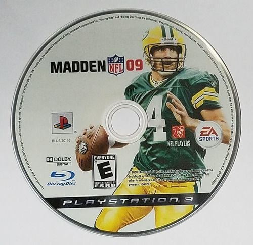 Jogo PS3 Madden NFL 09 - somente disco - EA Sports