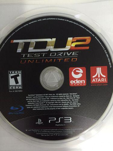 Usado Jogo PS3 Test Drive Unlimited 2 - somente disco- Atari