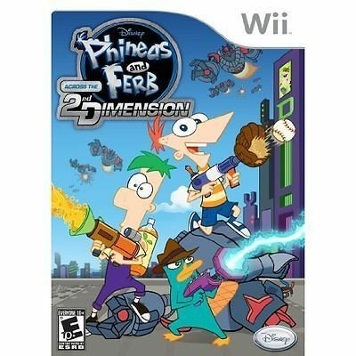 Usado Jogo Nintendo Wii Disney Phineas And Ferb Across The 2nd Dimension - Disney