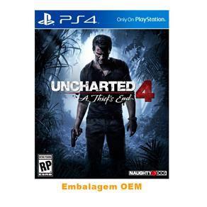 Usado Jogo PS4 Uncharted 4 A Thief's - Embalagem OEM - Sony