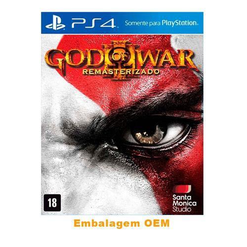 Usado Jogo PS4 God of War III Remasterizado Embalagem OEM - Sony
