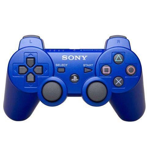 Usado Controle PS3 PlayStation 3 Azul - Sony