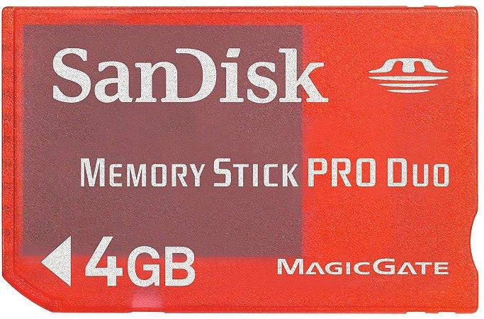 Usado Memory Stick PRO DUO 4GB PSP - Sandisk