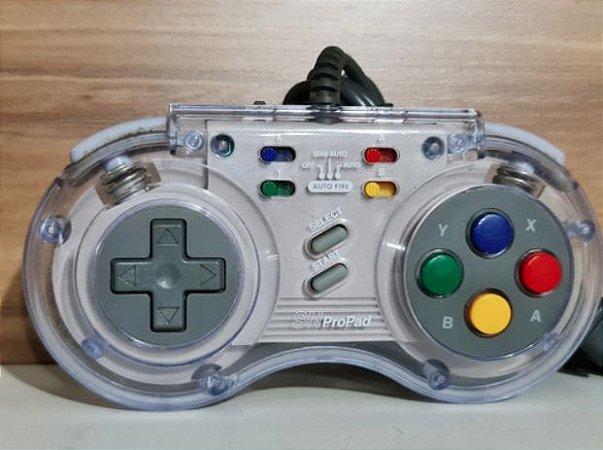 Usado Controle Super Nintendo PRO PAD Transparente - Importado