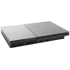 Usado Console PlayStation 2 PS2 Slim Cinza c/ 1 Controle - Sony
