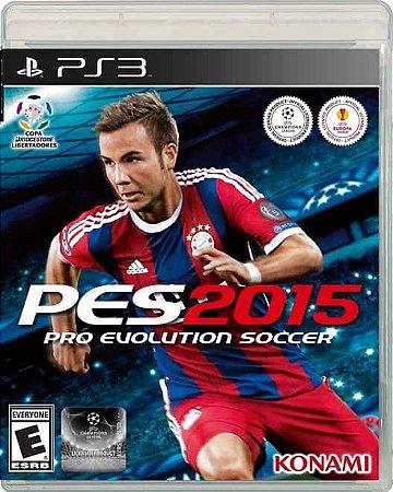 Usado Jogo PS3 Pro Evolution Soccer 2015 PES 2015 - Konami