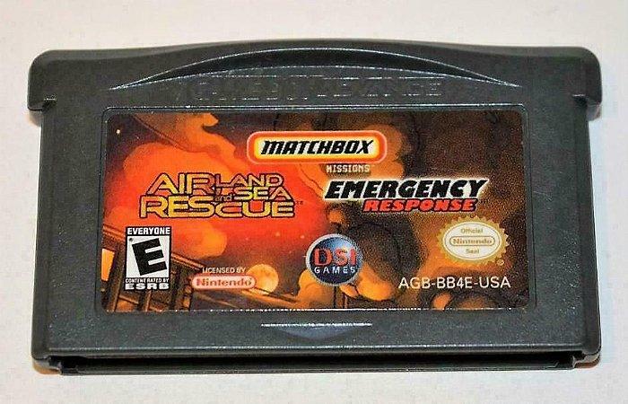 Jogo Nintendo Game Boy Advance Airland and sea rescue: emergency response - Nintendo