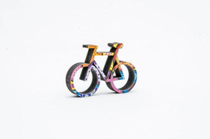 Bicicleta decorativa em MDF