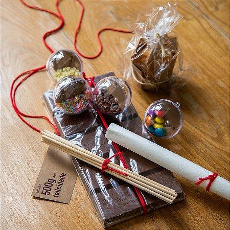 Kit Pirulito de Chocolate