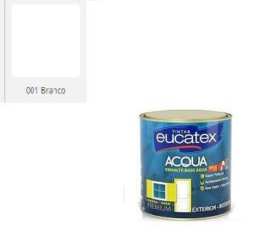ESMALTE  EUCATEX BASE ÁGUA ACETINADO BRANCO 3,6 L