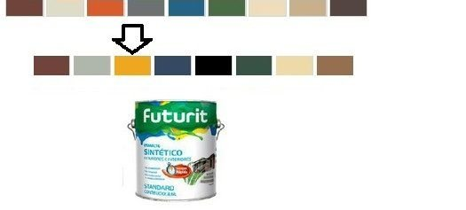 ESMALTE FUTURIT AMARELO 3,6 L - Brilhante