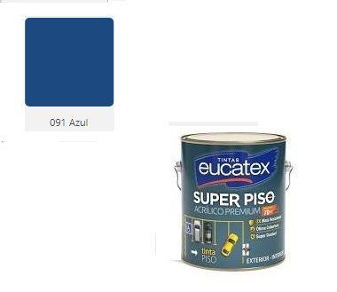 SUPER PISO EUCATEX ACRIL AZUL 3,6 lts