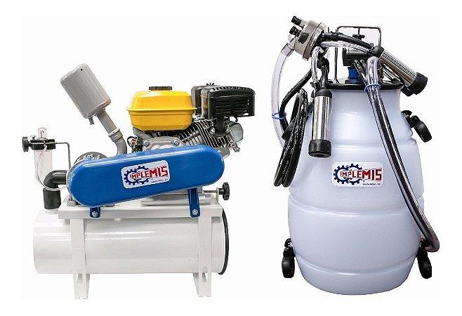 Ordenhadeira Implemis Ord300 A Gasolina   Com 1 Conjuntos E 1 Tarro