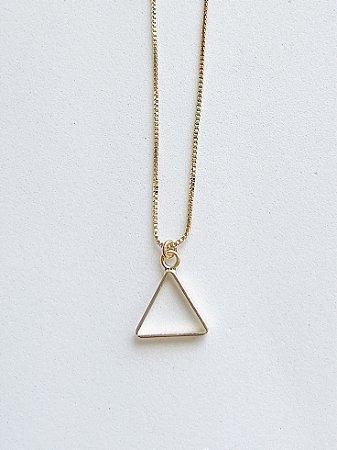 Colar Triângulo - SEMIJOIA