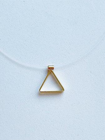 Colar Invisível Triângulo - SEMIJOIA