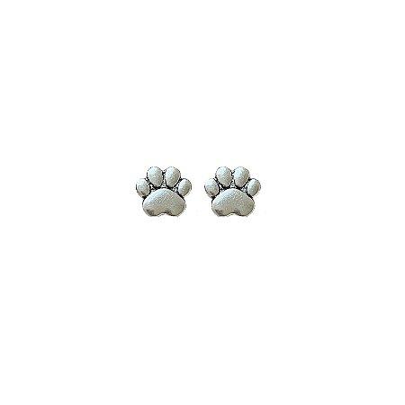 Brinco de Prata Pata de Cachorro / Gato